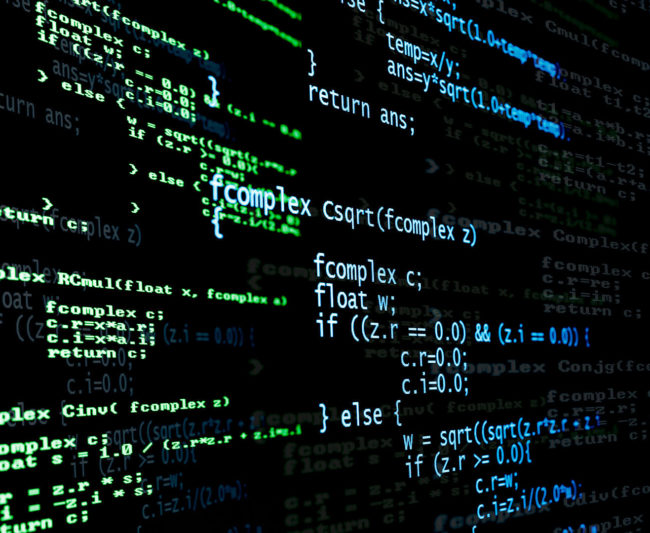 Digital language code from a computer program.